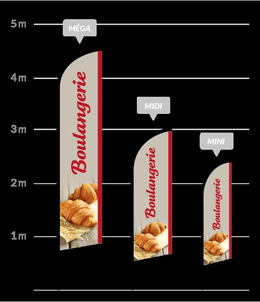drapeau publicitaire boulangerie