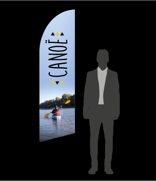 drapeau flamme canoe-kayak