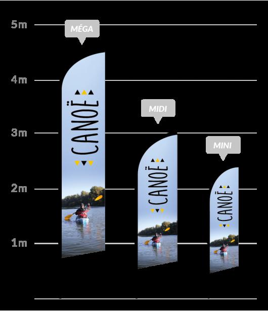drapeau publicitaire canoe-kayak
