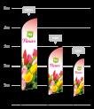 drapeau publicitaire fleurs