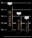 drapeau publicitaire hotel