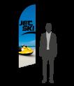drapeau flamme jet ski