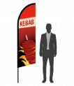 drapeau flamme kebab