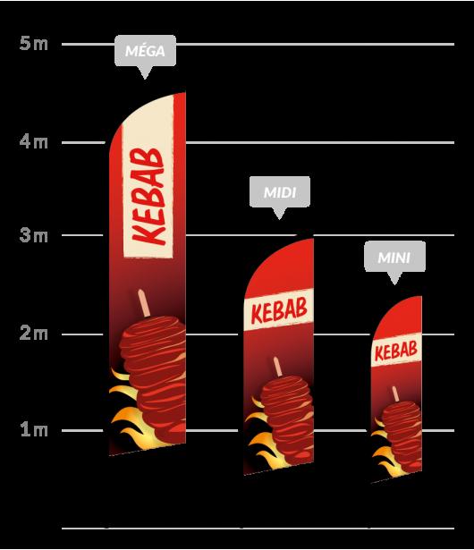 drapeau publicitaire kebab
