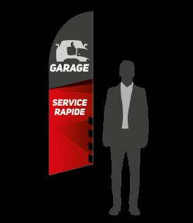 drapeau flamme garage