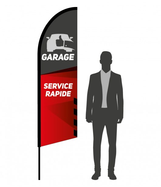 drapeau flamme garage