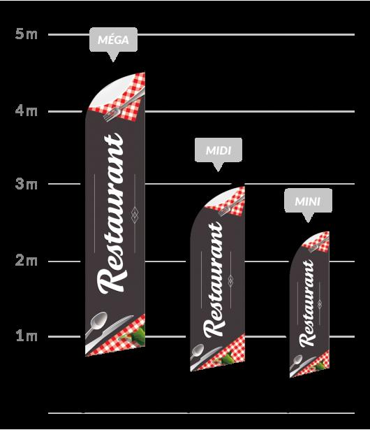 drapeau publicitaire restaurant