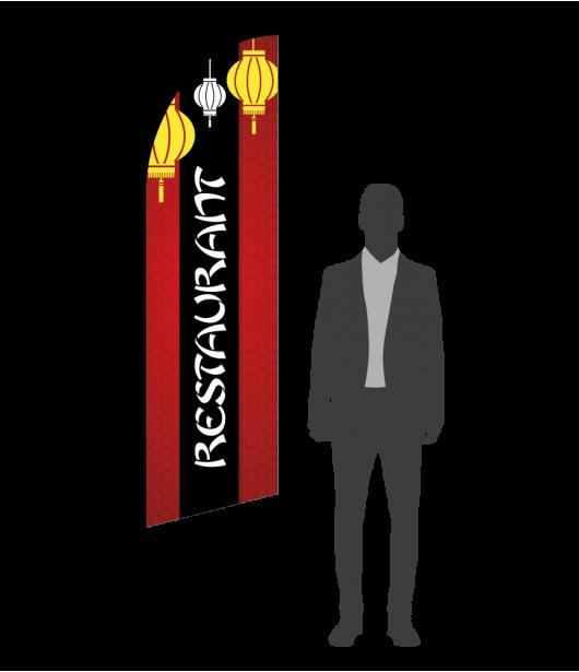 drapeau flamme restaurant asiatique