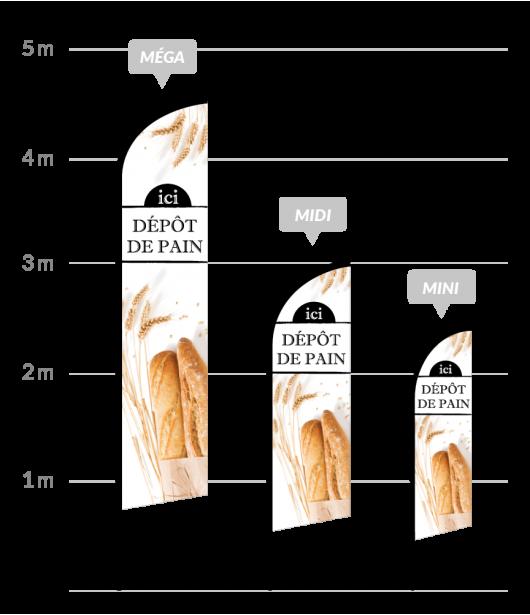 drapeau publicitaire dépôt de pain