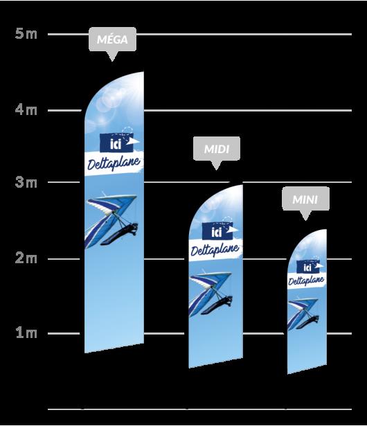 drapeau publicitaire deltaplane