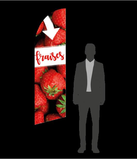 drapeau flamme vente de fraises
