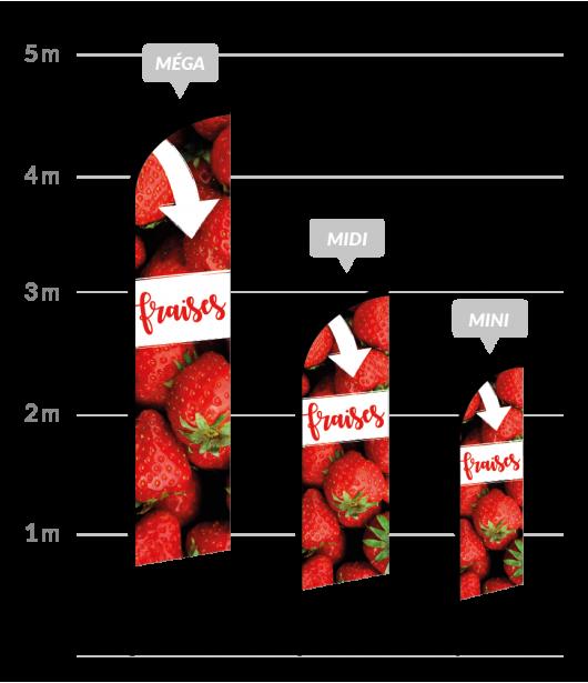 drapeau publicitaire vente de fraises