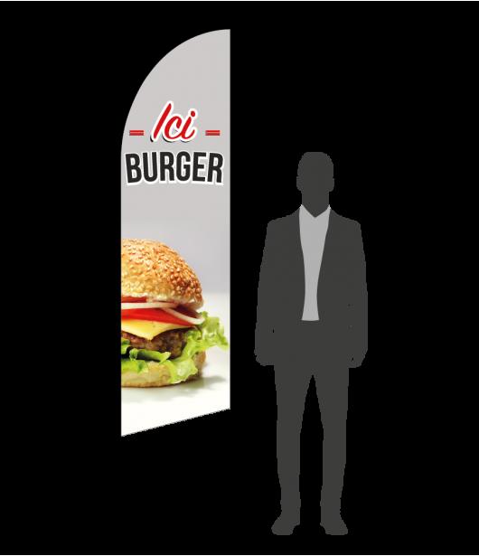 drapeau flamme burger