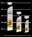 drapeau publicitaire burger