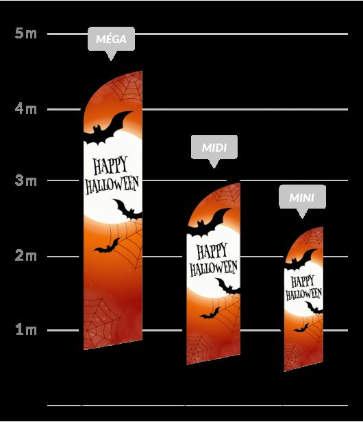 drapeau publicitaire halloween