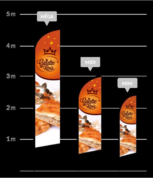 drapeau publicitaire galette des rois
