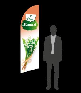drapeau flamme vente de muguet