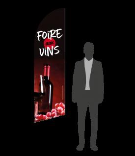 drapeau flamme foire aux vins
