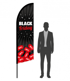 drapeau flamme black friday