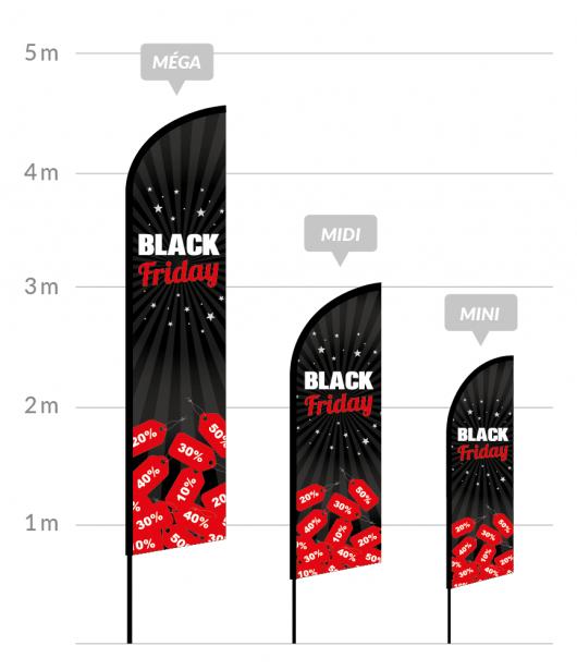 drapeau publicitaire black friday