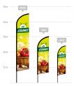 drapeau publicitaire vente de légumes