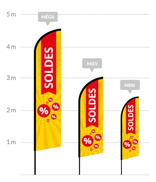 drapeau publicitaire soldes