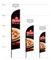 drapeau publicitaire pizzas au feu de bois