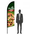 drapeau flamme pizzas artisanales
