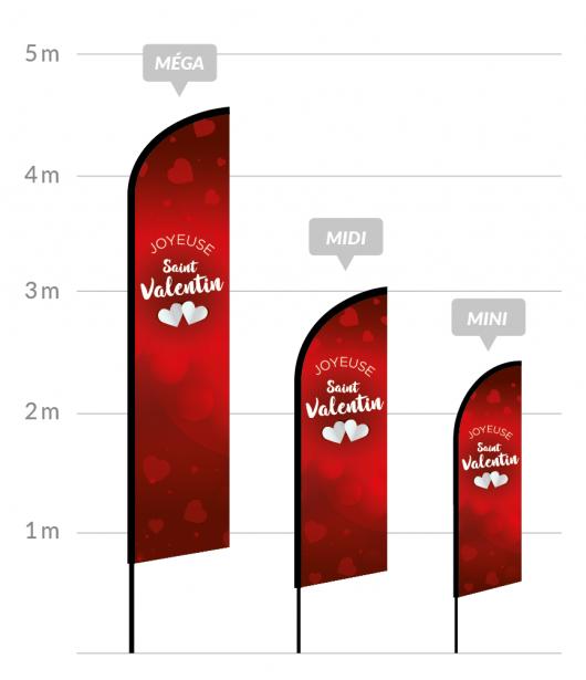 drapeau publicitaire saint valentin