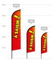 drapeau publicitaire à saisir