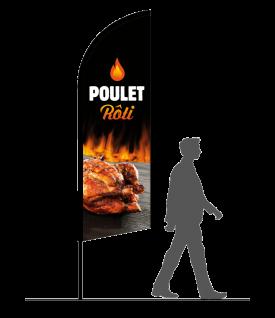drapeau oriflamme poulet roti