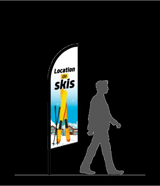 drapeau-flamme-location-de-skis